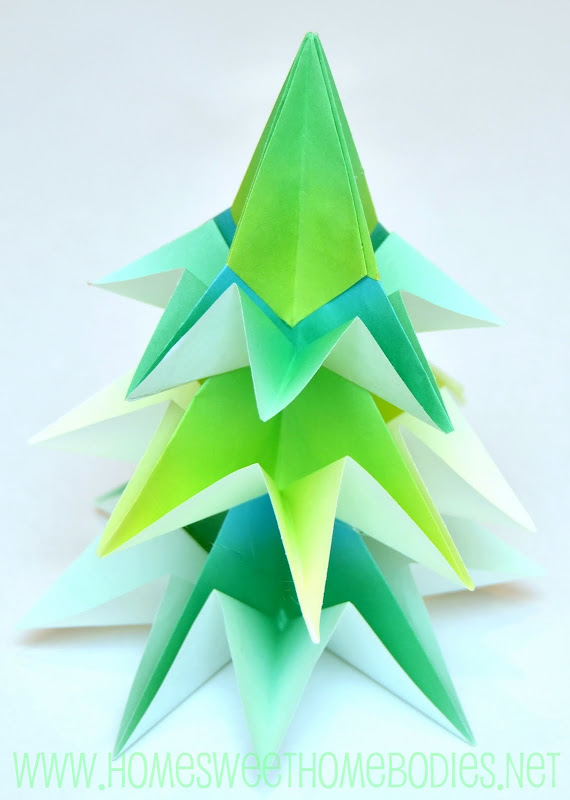 Origami Tree Tutorial And Christmas Party Decorations