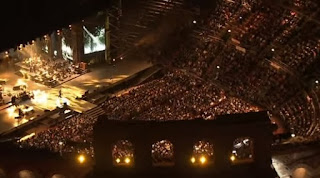 Scene at the Arena di Verona for Celentano's 2012 concert
