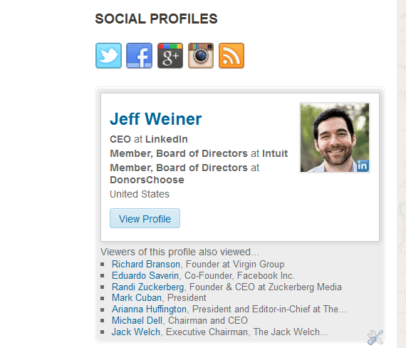 Create linkedin profile for blogger