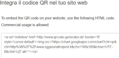 Integra codice QR