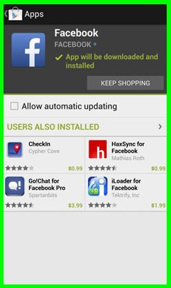facebook download for android