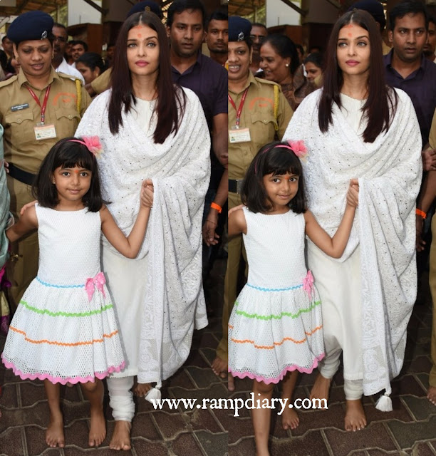 Aishwarya Rai in a White Suit by Sukriti and Aakriti