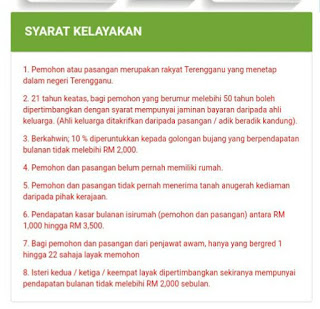 Permohonan Rumah Mampu Milik Terengganu