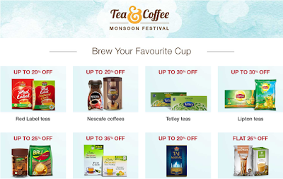 Amazon flat upto 35% Off on Tea & Coffee