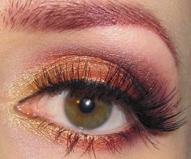 Glitter is my crack Desert Sunset Eye Makeup Look