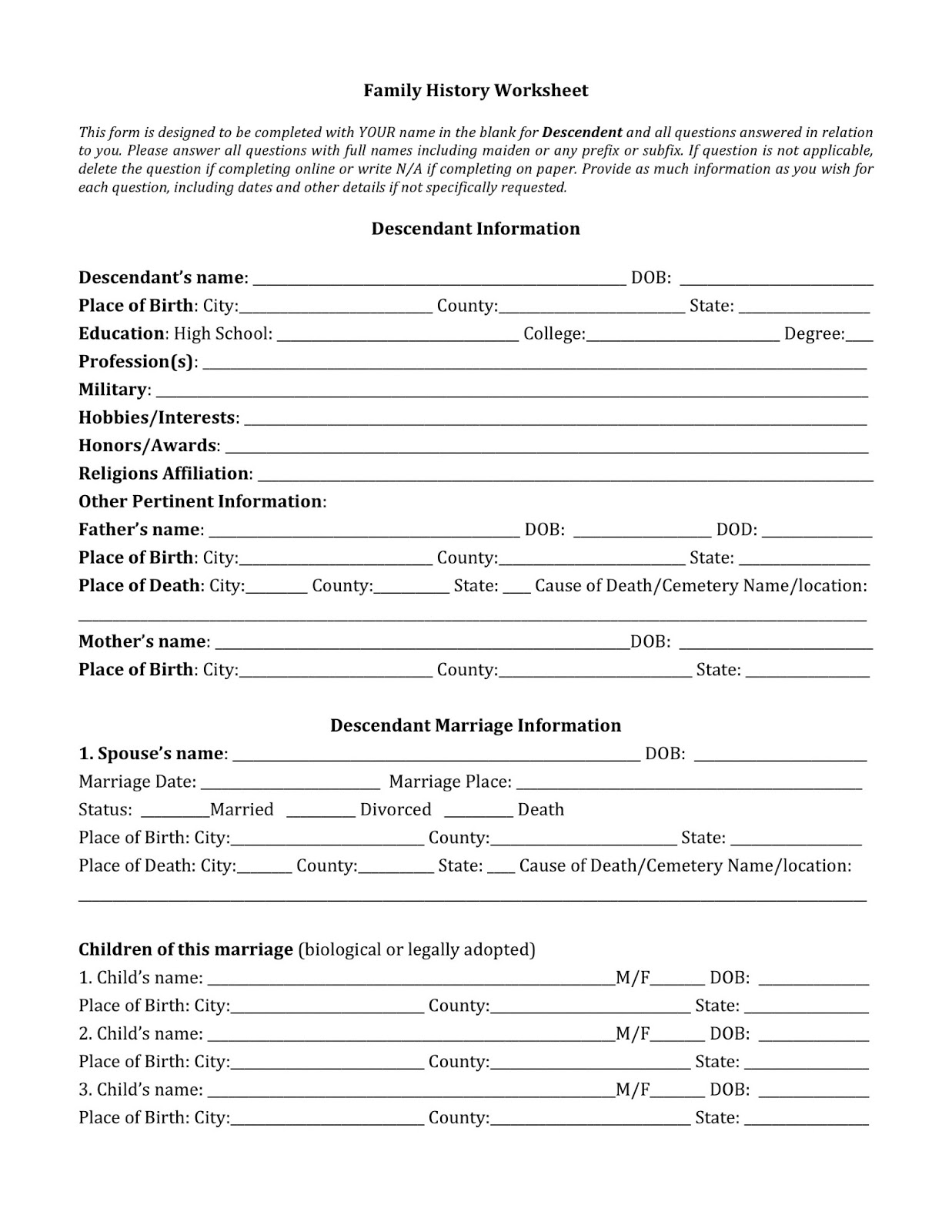 Claudia Johnson Professional Writer And Researcher Ancestry Investigation Worksheets