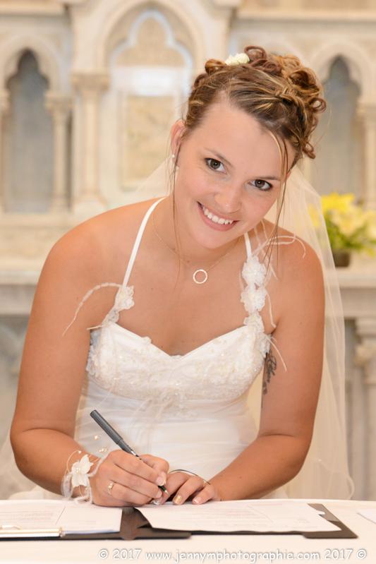 signatures de la mariée