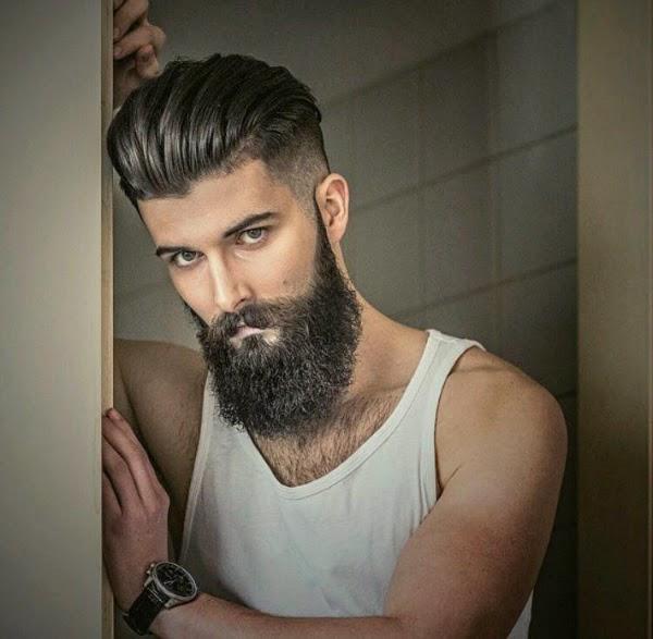 Papillon: Capelli rasati ai lati e barba: taglio capelli uomo