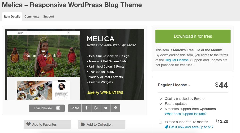 Melica – Responsive WordPress Blog Theme - Free Download