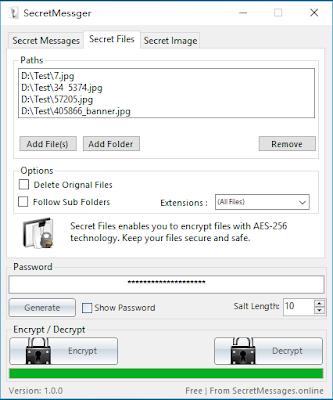 Secret Messager un program util pentru a pastra confidentialitatea mesajelor voastre
