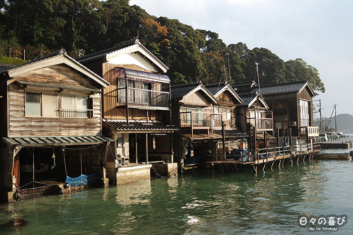 façades des maisons de pêcheurs à Ine, préfecture de Kyoto