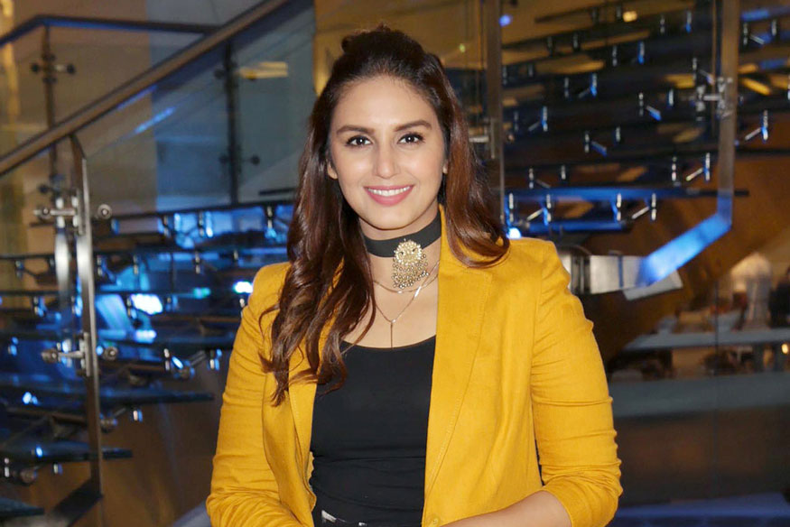 Huma Qureshi During visit at Her College in delhi