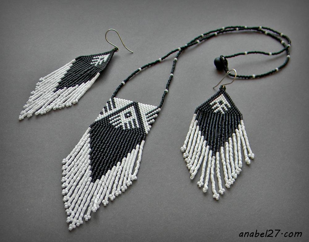 купить индейское украшение россия кулон и серьги
