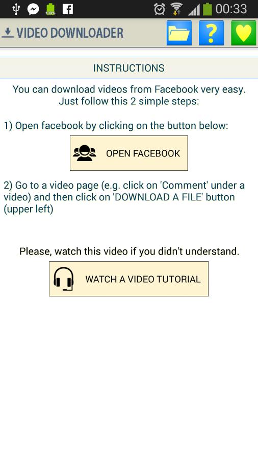 Fast Facebook Video Downloader v1 1 6 apk - ဘူးသီးတောင်