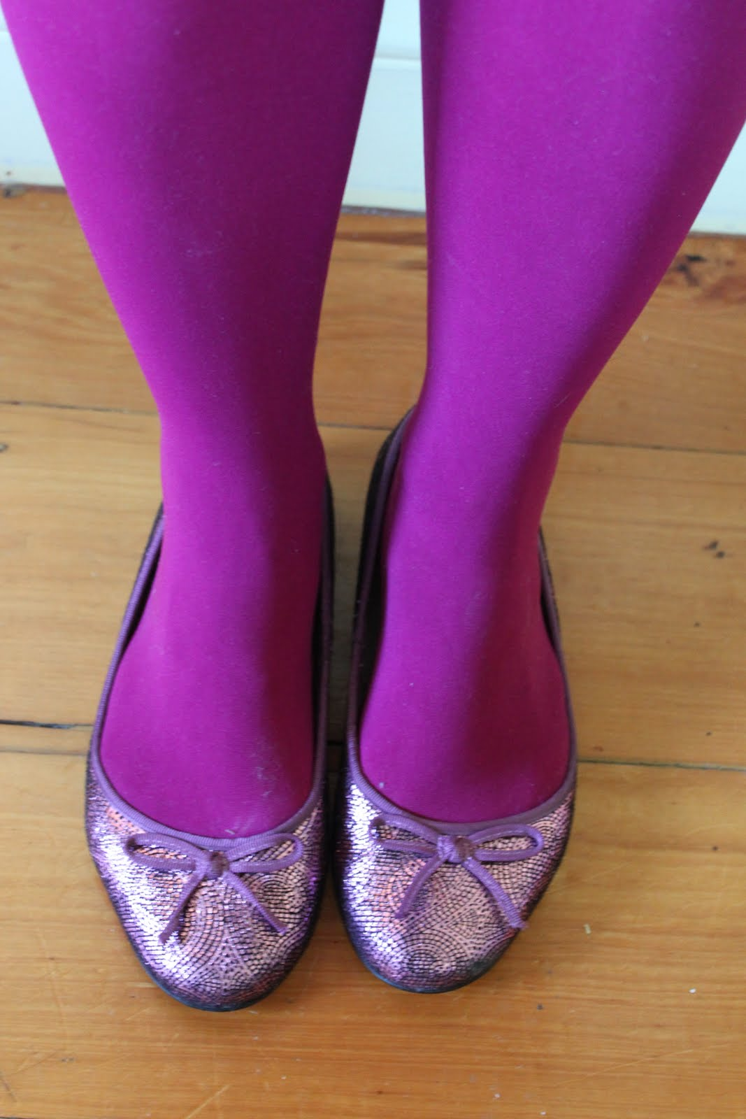 Ballet flats pantyhose