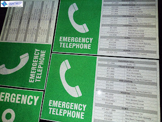 Emergency Telephone - Reflective Signages