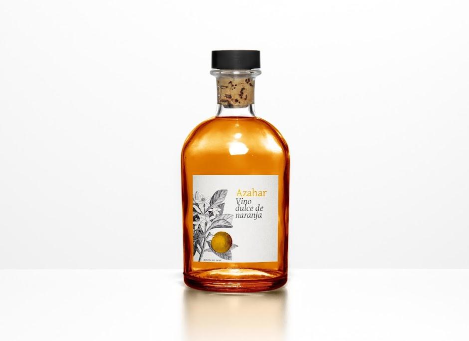Azahar Orange Wine packaging label