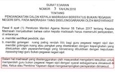 Alkhamdulillah Kepala Madrasah Tidak Harus Bersertifikat Pendidik Dan Inpassing III C