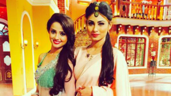 Mouni Roy and Adaa Khan in Naagin