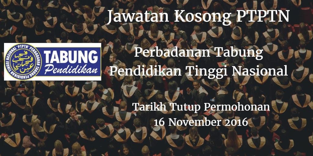 Jawatan Kosong PTPTN 16 November 2016