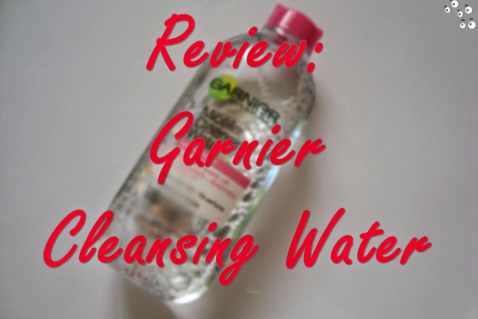 Garnier Cleansing Water review