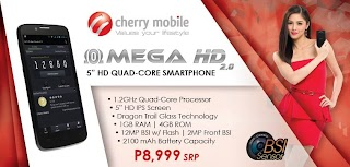 Quad Core Cherry Mobile Omega HD 2.0 now available by the price of 8999 pesos