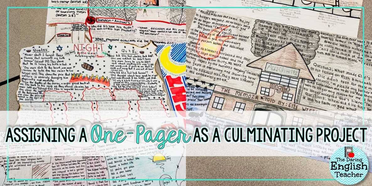 Assigning a One,Pager as a Culminating Project