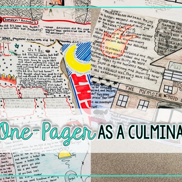 Assigning A One Pager As A Culminating Project The Daring English