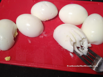 how to chop eggs