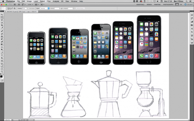 dibuja los productos antes de crear un icono