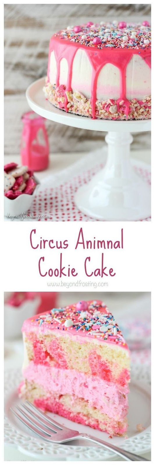 CIRCUS ANIMAL COOKIE VALENTINE'S CAKE