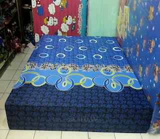Kasur inoac motif Minimalis Batik Cincin biru