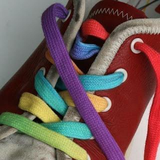 lacets couleur multicolores