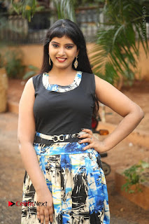 Actress Model Poorni Stills in Floral Long Dress at Silk India Expo Launch  0003.JPG