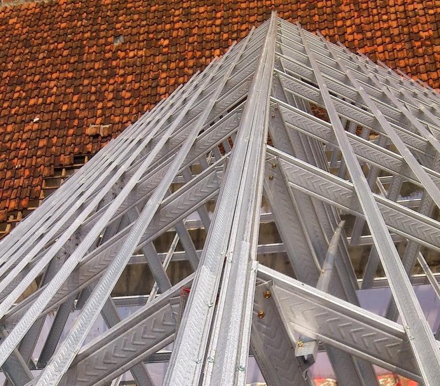 harga nok baja ringan tips memasang dan merakit untuk rangka atap rumah