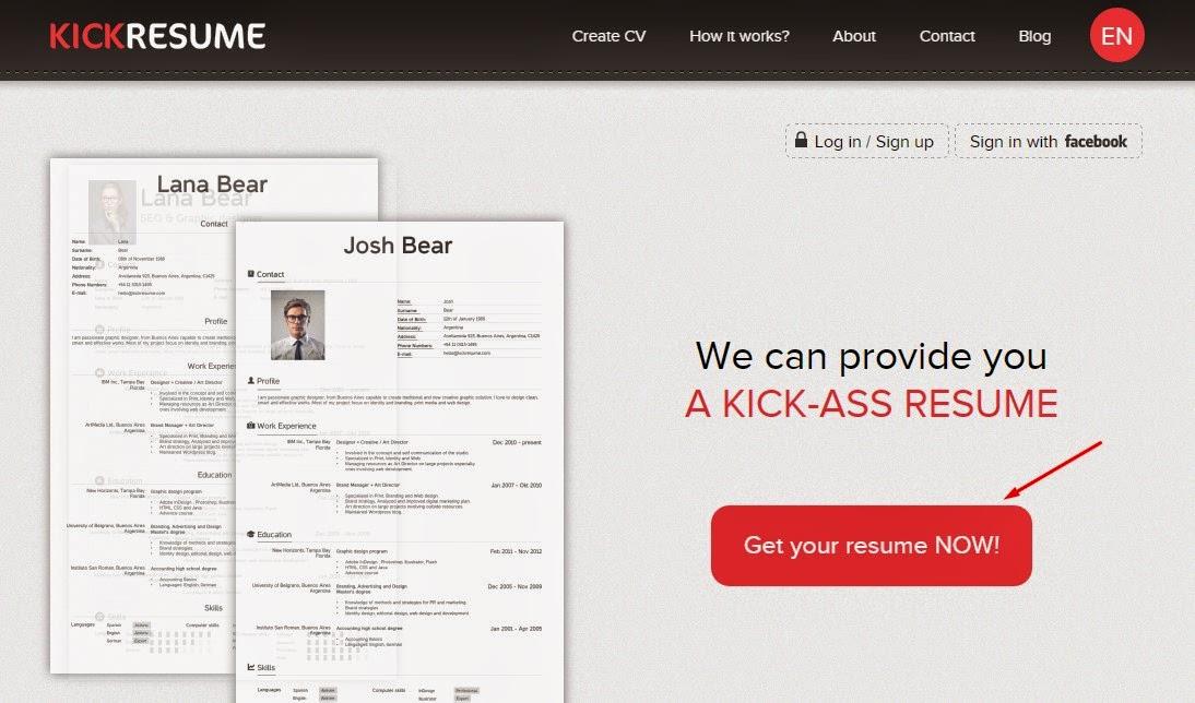 cara membuat resume    cv menarik secara online