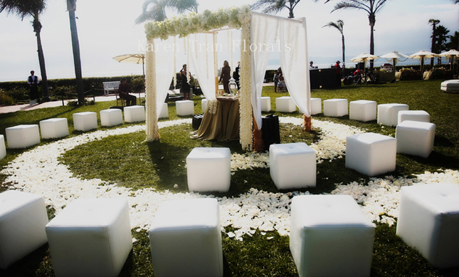 Indoor Or Outdoor Wedding Ceremony Some Facts To Help You: Round Ceremony Set-Ups