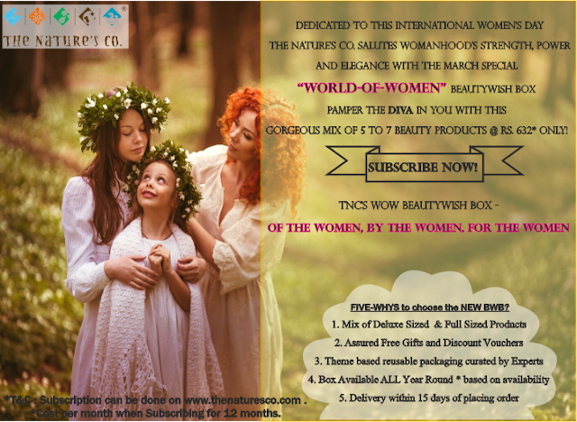 Celebrate International Women's Day - 2017 with The Nature's Co.   Most Trusted Vegan Skincare Brand