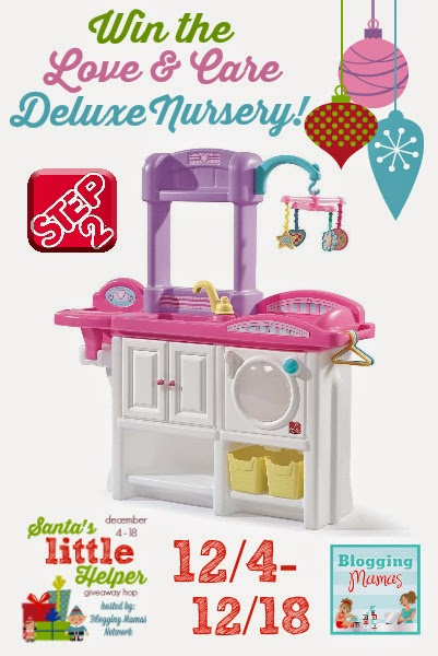 http://blogging-mamas.com/2014/12/santas-little-helper-grand-prize-step2-love-care-deluxe-nursery-giveaway