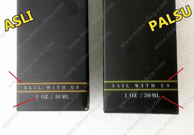 Perbedaan Warna Kemasan Ombak Beard Oil Asli dan Palsu