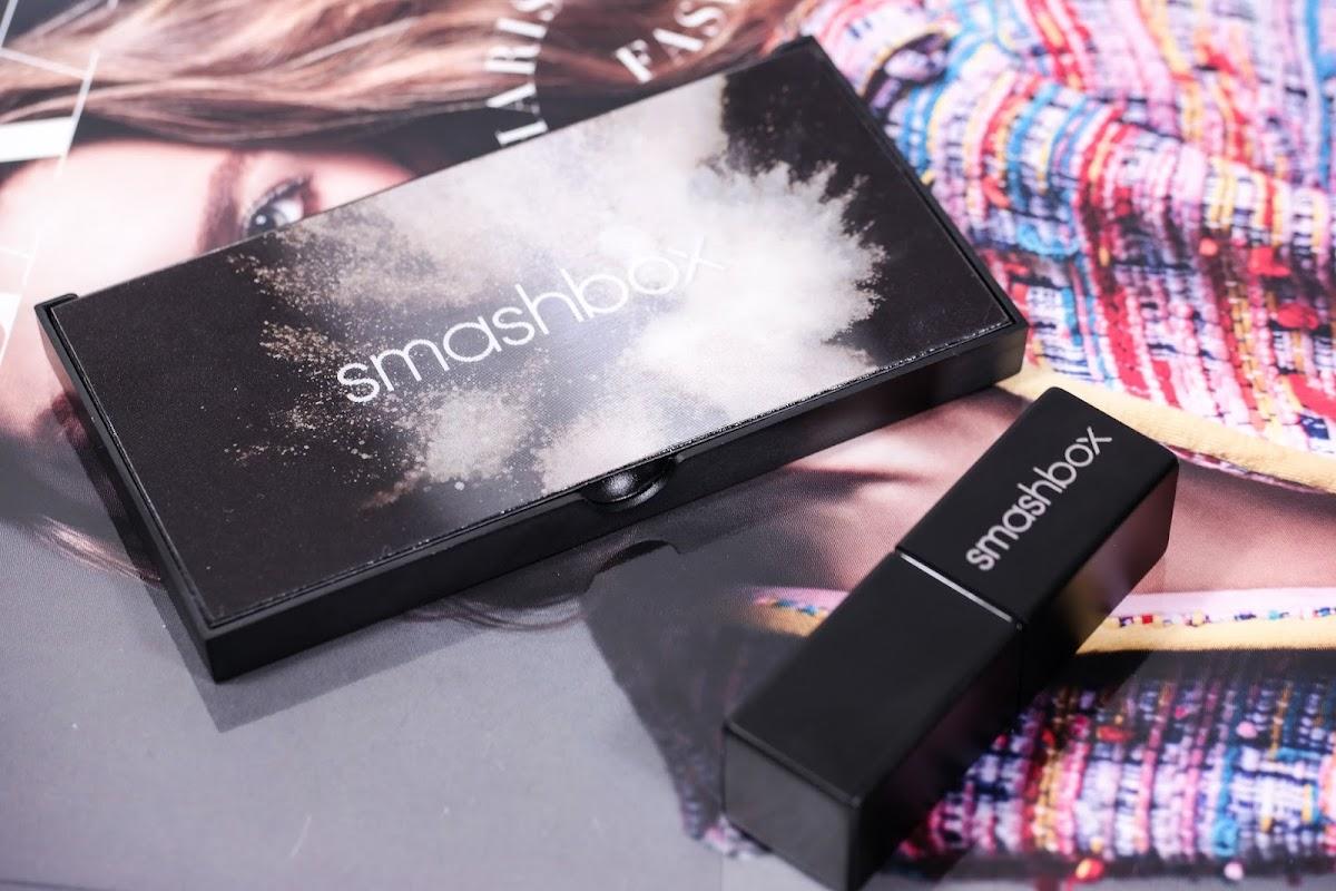 Lippenstift und Lidschattenpalette von Smashbox