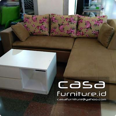 Sofa minimalis custom letter L