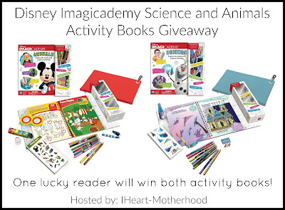 Enter the Disney Imagicademy Science and Animals Activity Books Giveaway.