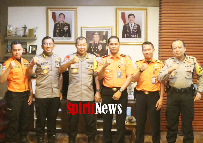 Kapolda Sulsel Bahas Penanggulangan Bencana Bersama Ketua Basarnas Makassar