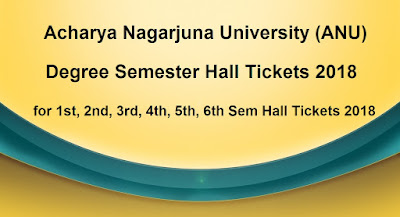 ANU Degree Semester Hall Tickets 2018 Download