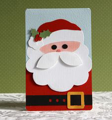 Handmade Christmas Card With Santa