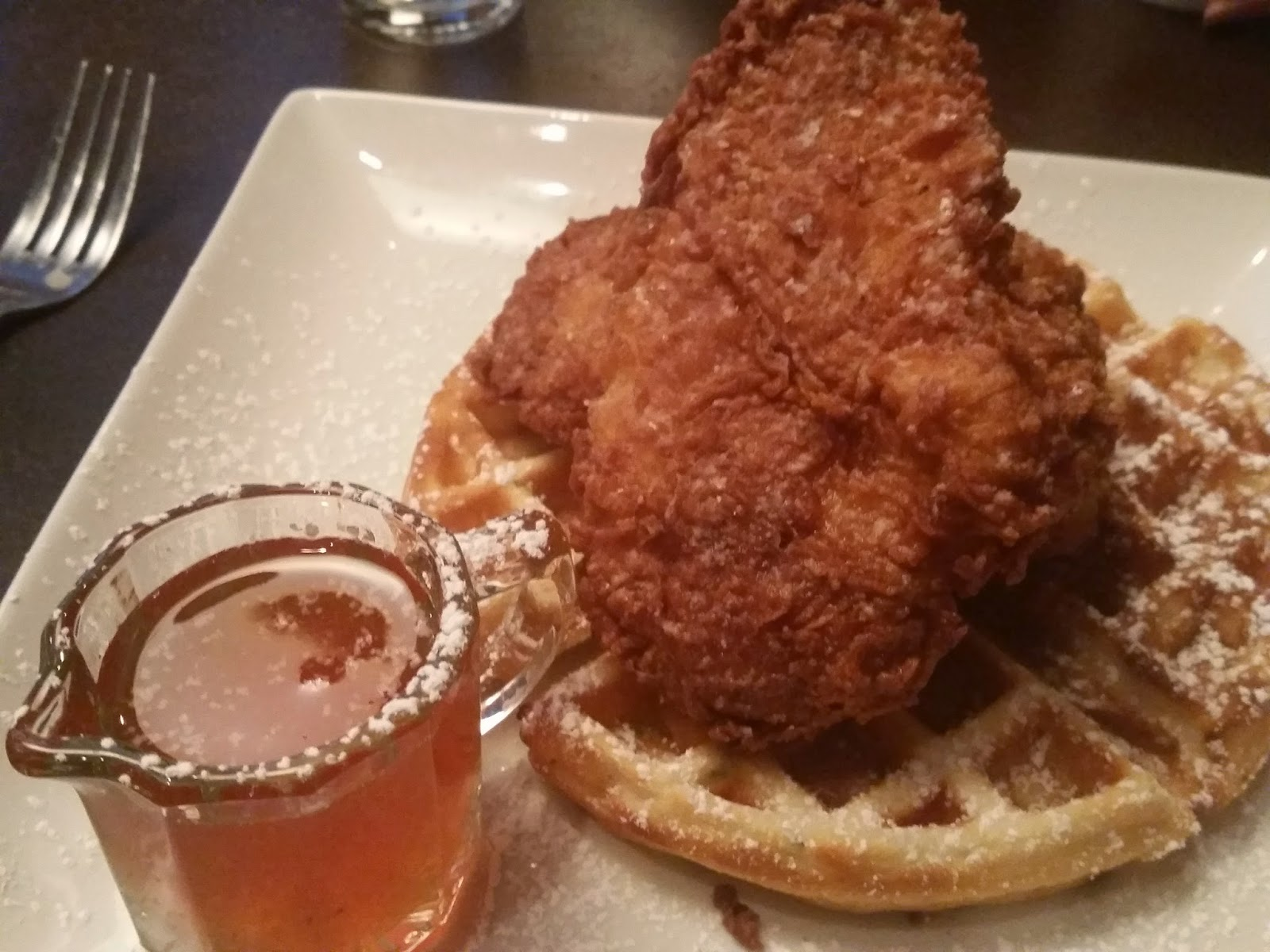 SOHO Restaurant, chicken and waffles