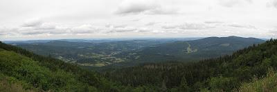 Panorama z Przełęczy Brona.