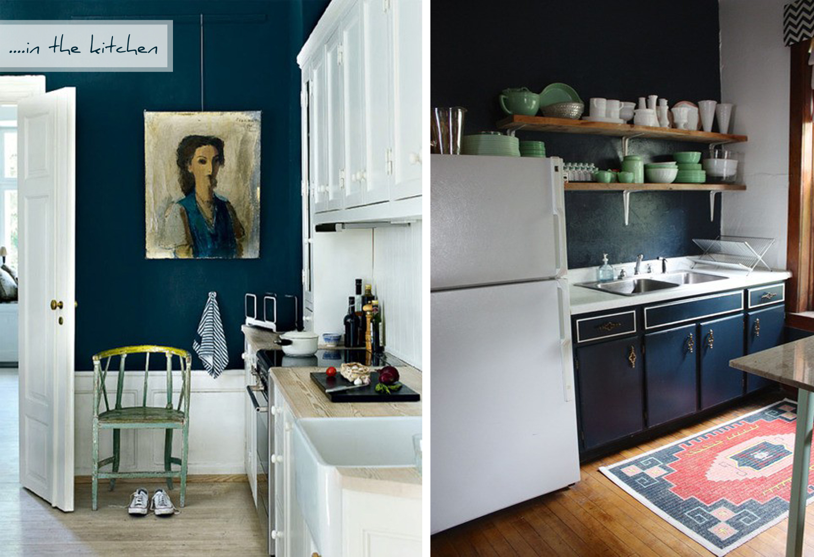 Navy Kitchen Cabinets. Beautifully Appointed Blue And White ...