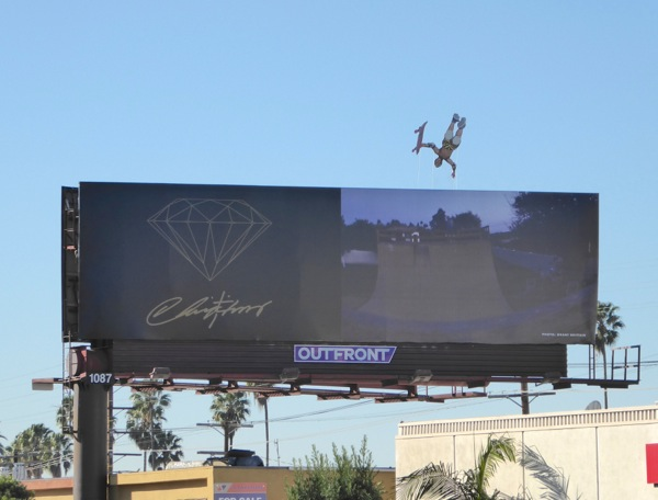 Diamond skateboarder special extension billboard